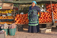African sales woman. Mid age African sales woman from Mochudi village, Botswana Royalty Free Stock Photography