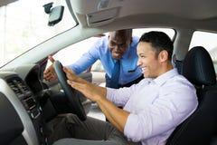 African salesman customer royalty free stock image