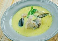 African Salt Cod and Peanut Curry Stock Images