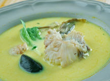 African Salt Cod and Peanut Curry. African Fish Curry Stock Photography
