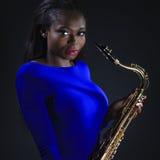 African Sax Lady Stock Photos