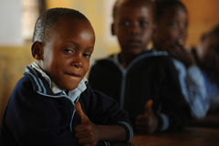 African School children. Mozambique refugee school children in south africa stock photo