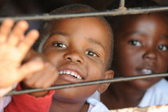 African School children. Mozambique refugee school children in south africa royalty free stock photo