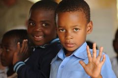African School children. Mozambique refugee school children in south africa stock photography