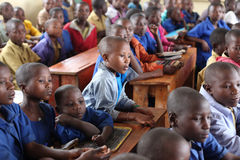 African school children in classroom. School children in africa, in a classroom royalty free stock photography