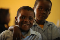 African School children. Mozambique refugee school children in south africa stock image