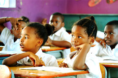 African Schoolchildren Stock Photography