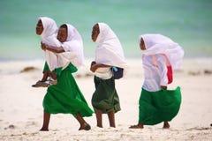 African schoolgirls in Zanzibar Stock Images