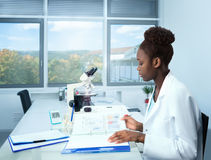 African scientist, graduate student or medical trial coordinator Stock Images