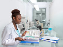African scientist or medtech works in the laboratory Stock Photos