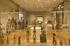 African sculptures in Seattle Art Museum Stock Photos