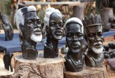 African sculptures Stock Images