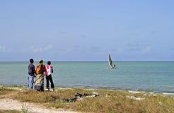 African sea. Scene at Dar es Salaam, Tanzania stock photo