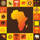 African seamless. With ethnic pattern royalty free illustration