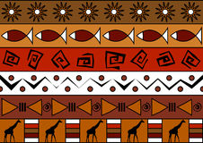 African seamless pattern Stock Image