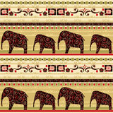 African seamless pattern with elephant Royalty Free Stock Images