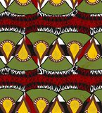 African seamless pattern Royalty Free Stock Image