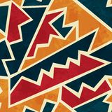 African seamless pattern with grunge effect Royalty Free Stock Photography