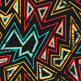 African seamless pattern with grunge effect Royalty Free Stock Photos