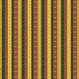 African seamless pattern. With motley stripes and symbols Stock Image