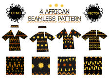 African seamless pattern Royalty Free Stock Photo