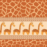 African seamless patterns Stock Photography