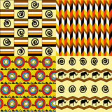 African seamless patterns vector illustration