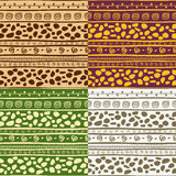 African seamless patterns Royalty Free Stock Photo