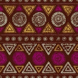 African seamless print. Grunge texture. Vintage ornament. Tribal Stock Photo