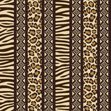 African seamless with wild animal skin patte