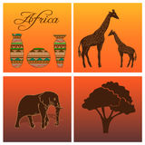 African set Royalty Free Stock Photos