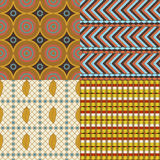 African set of 4 seamless patterns Stock Photography