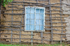 African settlement housing. House window in informal settlement Royalty Free Stock Photo