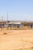 African Settlement shacks Stock Photos