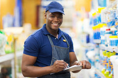 African shop assistant Stock Photography