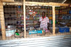 African shop Stock Images