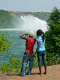 African Sightseers at Ghana's Akosombo Dam Stock Photography