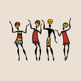 African silhouette set. Figures of african dancers. People silhouette set. Vector  Illustration Royalty Free Stock Photography