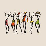 African silhouette set Royalty Free Stock Photo