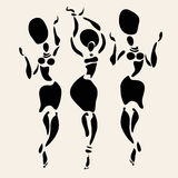 African silhouette set Royalty Free Stock Image