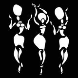 African silhouette set. Figures of african dancers. Vector fashion illustration Royalty Free Stock Image