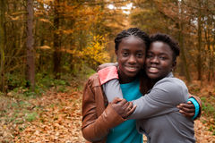 The african sisters royalty free stock image