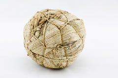 African soccer ball. Handmade african soccer ball. Cheaper allternative made of grass and banana leaves Stock Images