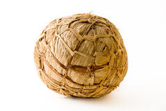 African soccer ball made of banana leaves Stock Photos