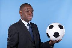 African soccer fan Stock Photo