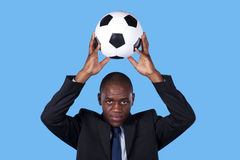 African soccer fan Royalty Free Stock Photo
