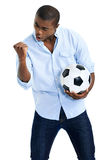 African soccer fan Royalty Free Stock Photos