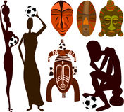 African soccer fans Royalty Free Stock Images