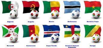 African Soccer Nations - 1 of 4 Stock Photo