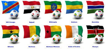 African Soccer Nations - 2 of 4 Stock Photography